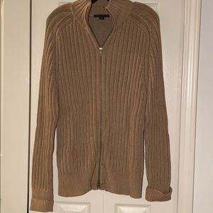 NWOT Mens Banana Republic camel color 2 way zip